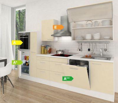 Respekta Premium Küchenzeile RP310HWVA 310 cm VanilleWeiß