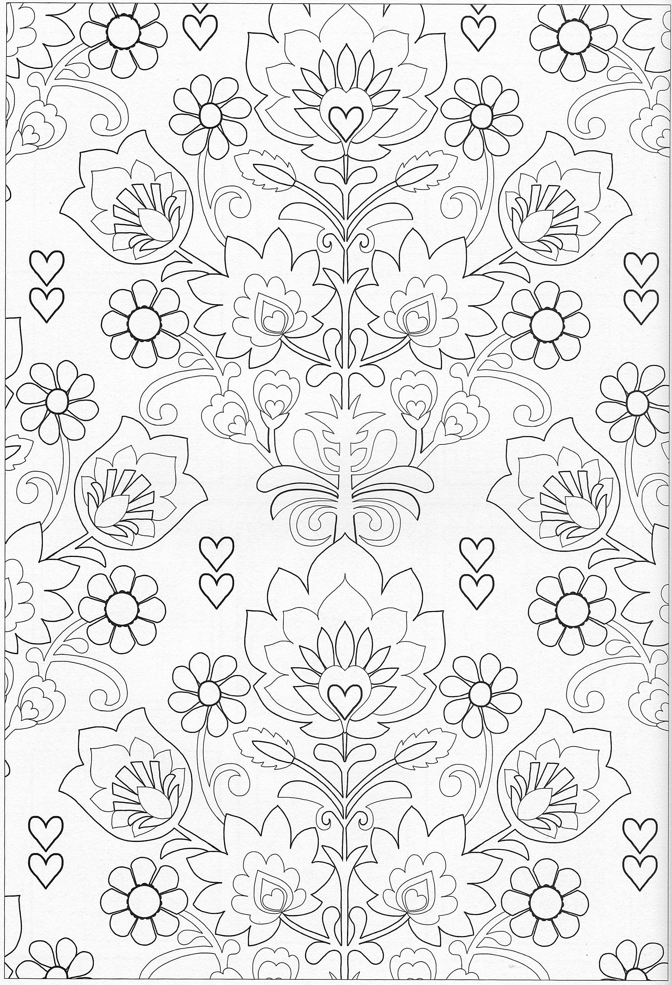 Scandinavian Coloring Book Pg 40 | гладь | Pinterest | Bordado ...