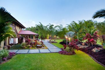 Hawaii Tropical Landscape Design Ideas Pictures Remodel And Decor Pavers Walkwa Tropical Landscape Design Tropical Landscaping Backyard Landscaping Designs