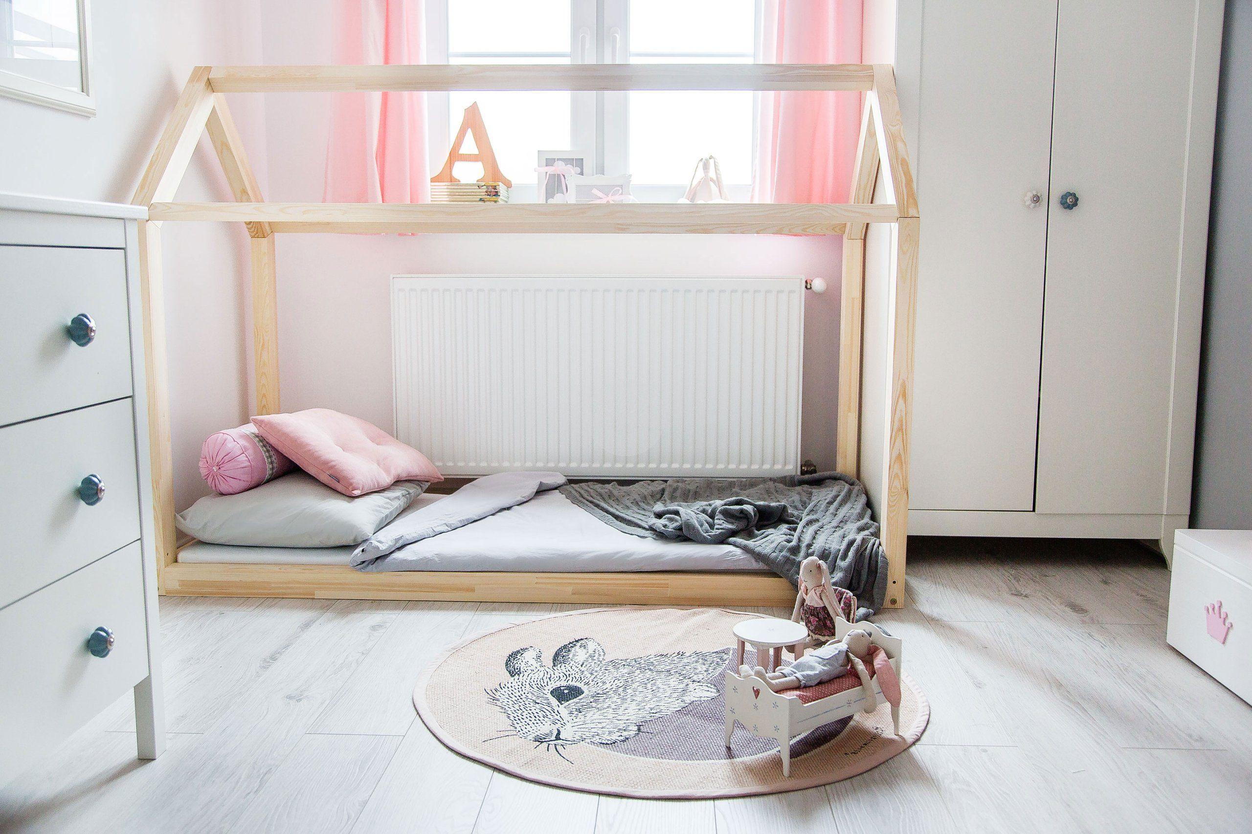 Drewniane łóżko Dziecięce Domek Talo D2 70x160 Dziecko