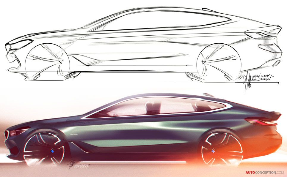 2017 Bmw 6 Series Gt Sketching Pinterest Bmw Sketch Bmw And