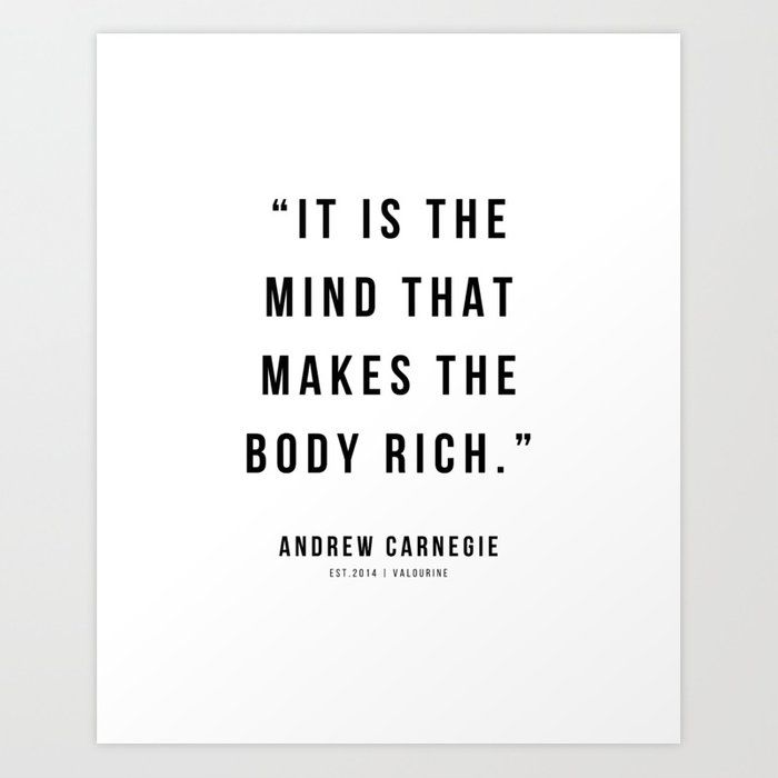 29 |Andrew Carnegie Quotes | 21010 | Motivational Inspirational Success Quote Personal Development Business Coach Art Print by Wordz