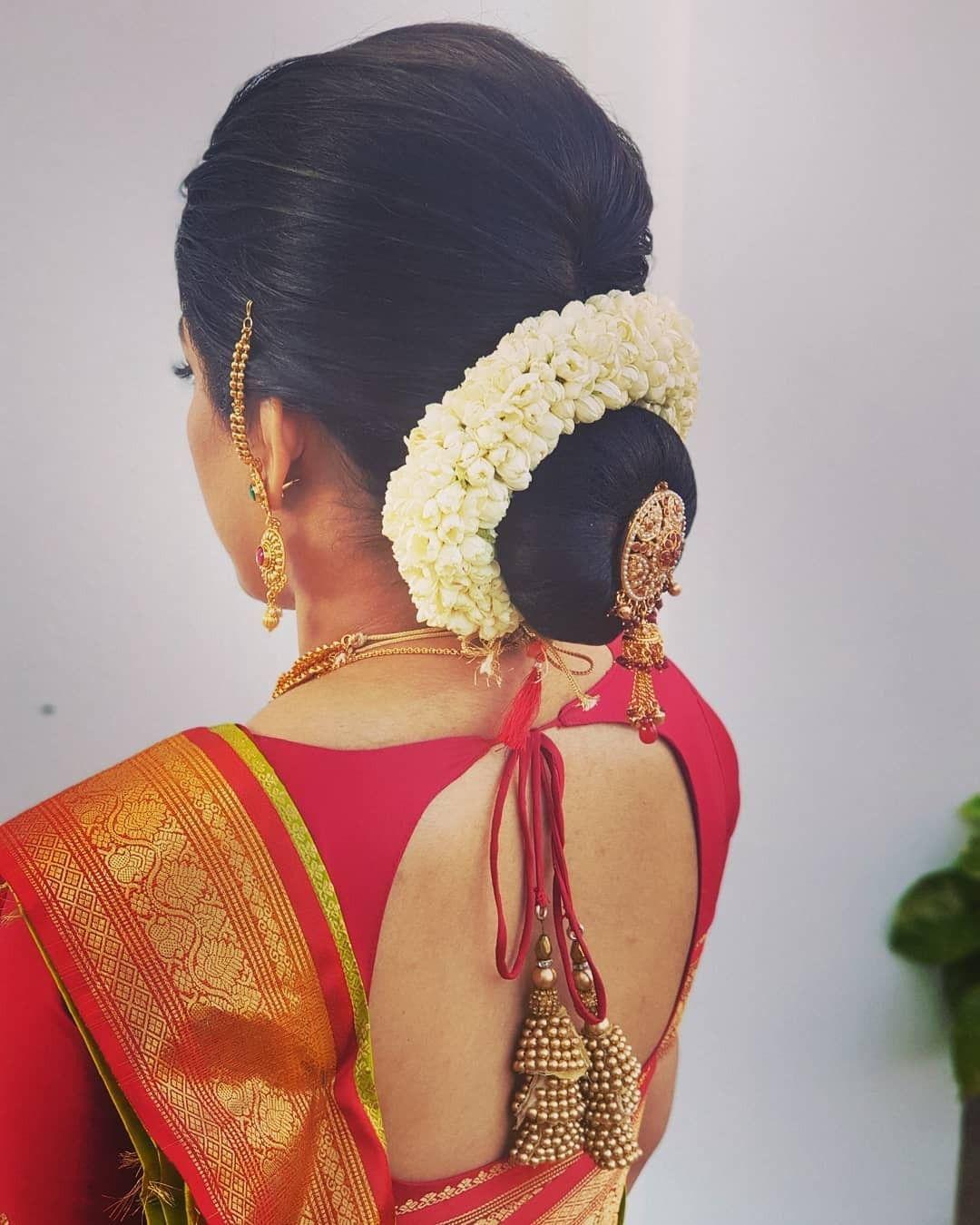 Pin By Thibahtarusini Arumugam On Hair Trends Bridal Hair Buns Indian Hairstyles Big Bun Hair