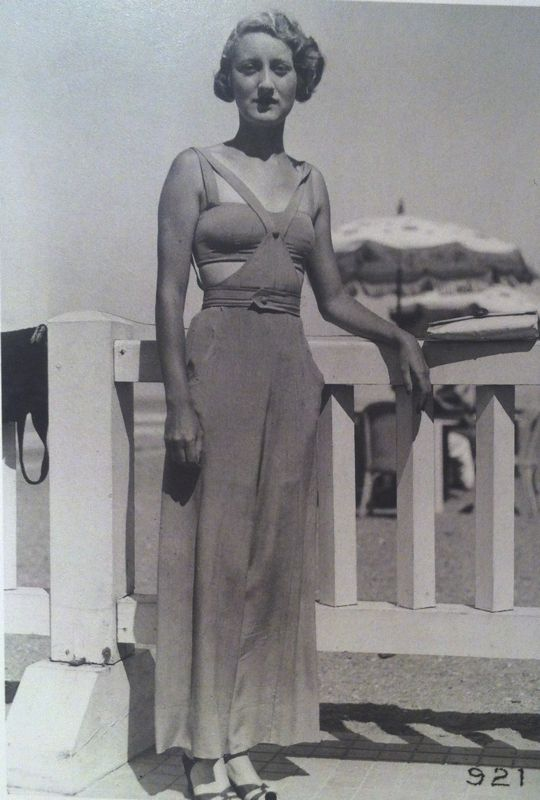 Madame Mansfield In Chanel Biarritz September 1932 Vintage