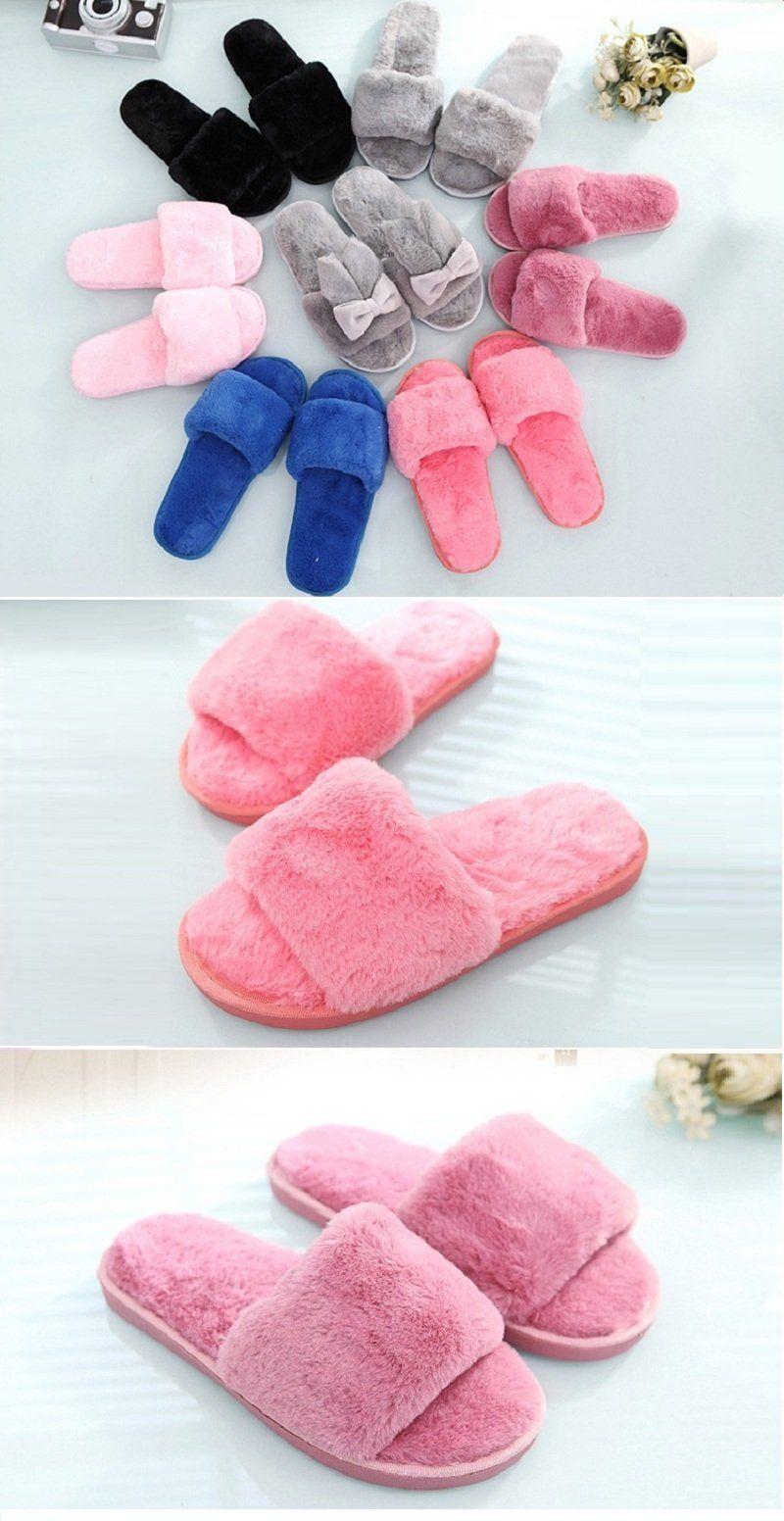 081908e6d44fce MOSHU - Designer Fluffy Fur Winter Slippers Slides  by Mix Pleasurez ...