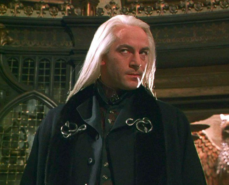 When You Want To Rep Your School Or Your Hogwarts House Opt For Subtle Accessories Rather Than Loud T Shirts Jason Isaacs Harry Potter Characters Lucious Malfoy