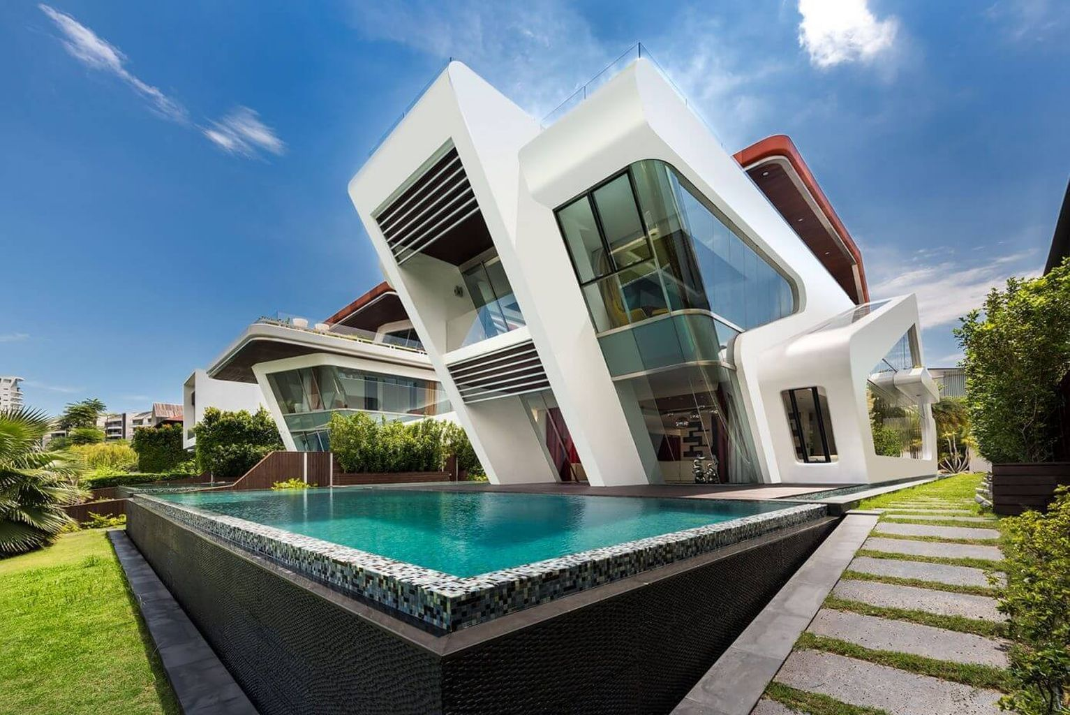 Contemporary houses also can influenced by many different design styles joey modern house designs accesories architecture rh pinterest