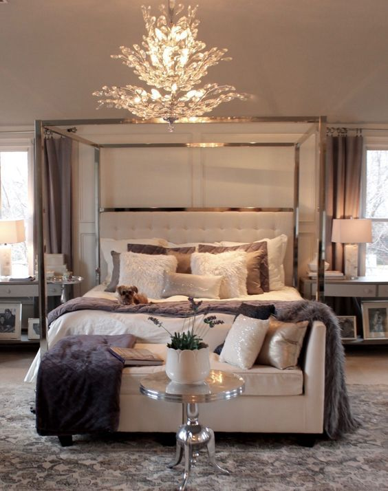 Luxury master bedrooms by famous interior designers Elegant master bedroom bedding