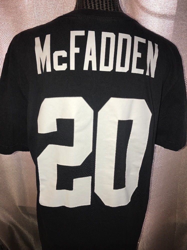 ffbbb0083 Nike Raiders Darren McFadden Black Silver Medium No. 20 Medium T-shirt NFL #