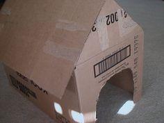Como fazer uma casa de cachorro de papelão. How to Make a Cardboard Doghouse | eHow