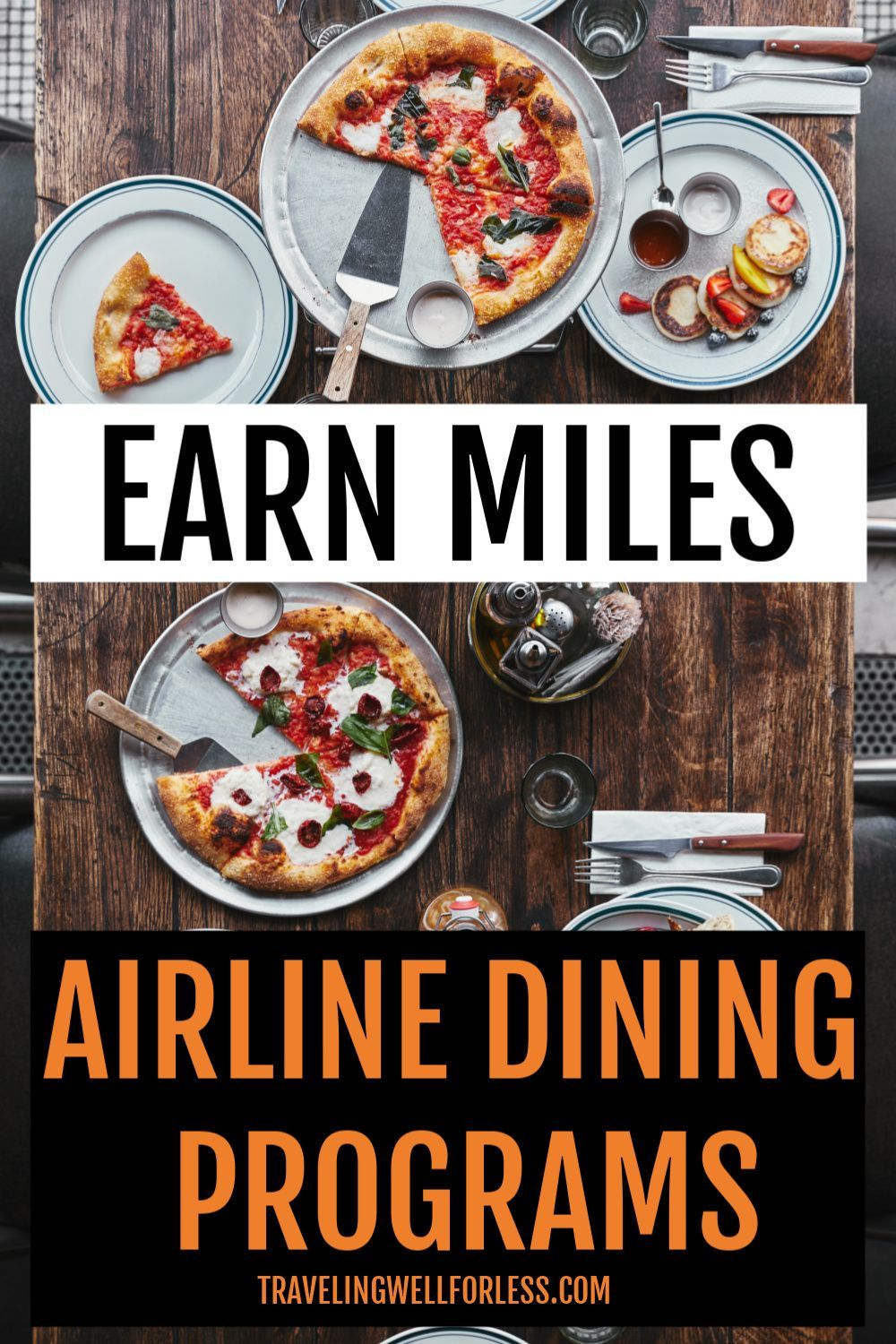 You can earn lots of frequent flyer miles without flying. Simply by doing something you're already doing. Click through to learn more about how to earn airline miles for free flights with airline dining programs. | airline dining program | rewards network | travel hacking | travel hacks | earn frequent flyer miles | earn airline miles without flying | #travelwell4less 566257353150858693
