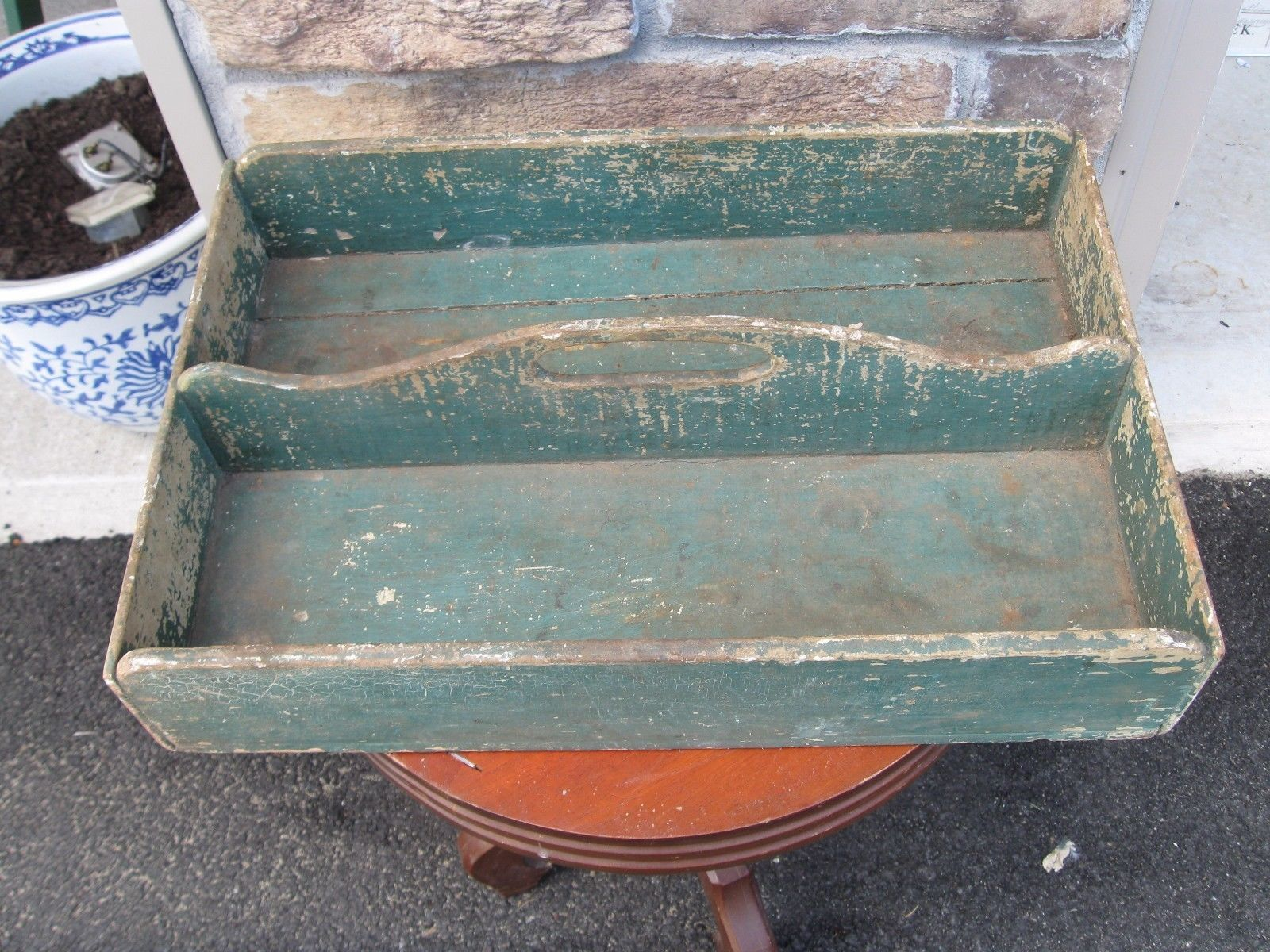Fabulous Antique Primitive Carrier Awesome Old Green Paint Estate Fresh Today | eBay