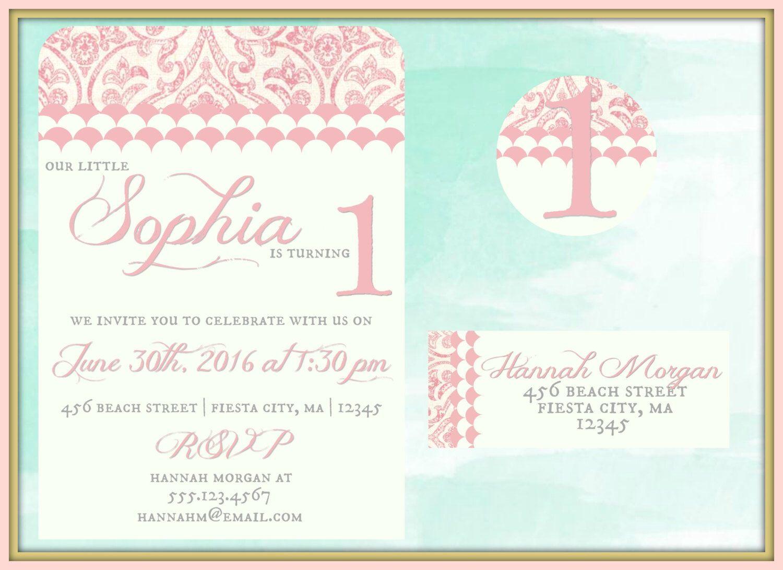 Boho Birthday Invitations, First Birthday Invitations, Birthday ...
