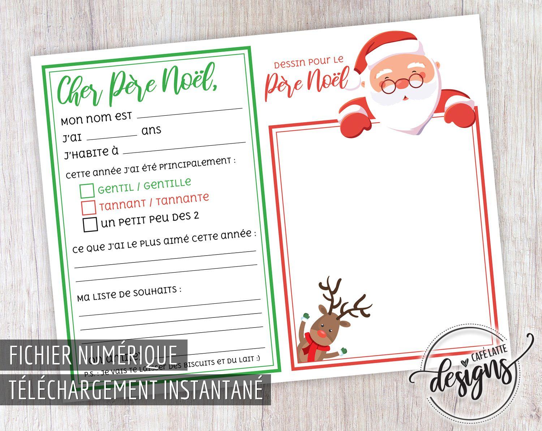 Liste Au Pere Noel Lettre au Père Noël, Lettre d'enfant au Père Noël, Lettre de Noël