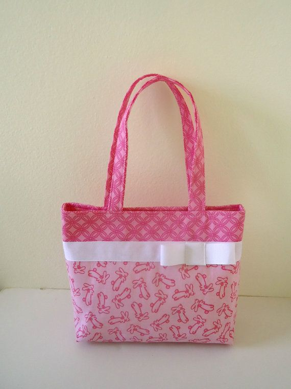 Little girl's Pink Bunny Easter Purse by Sweet Pea Purse Company on Etsy, $26.00
