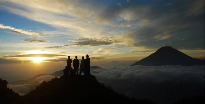 Sikunir Hill, Golden Sunrise Of Java