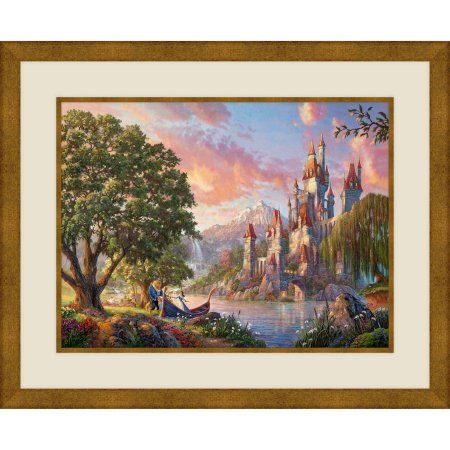 Beauty And The Beast II, 20.5 inch x 18.5 inch Wall Art, Gold