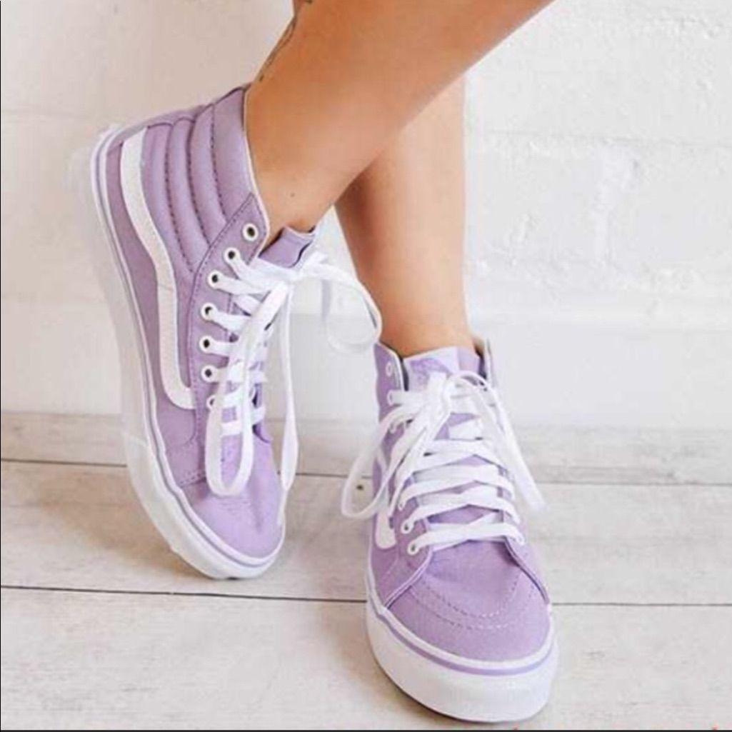 NEW Vans Sk8 Hi lavender sneaker light
