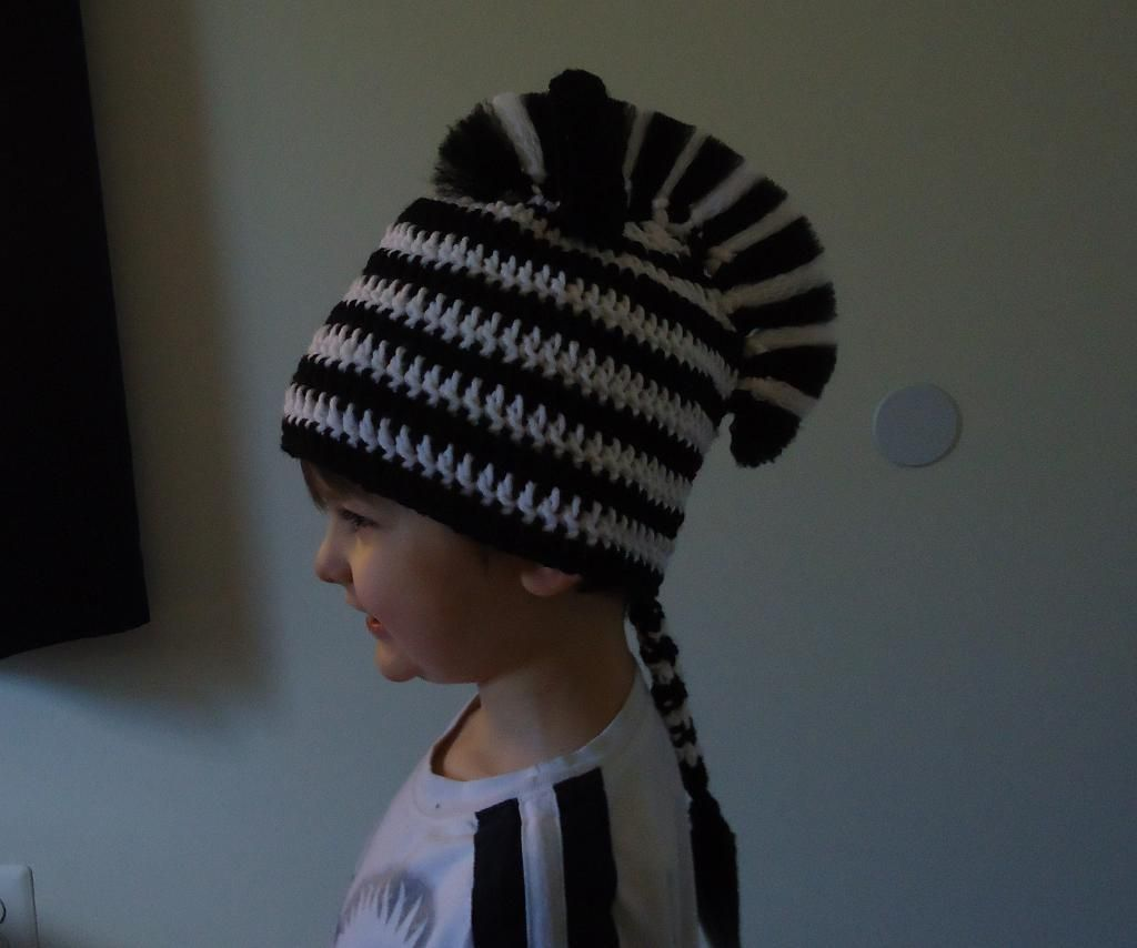 Zebra hat hat crochet children s and crochet accessories