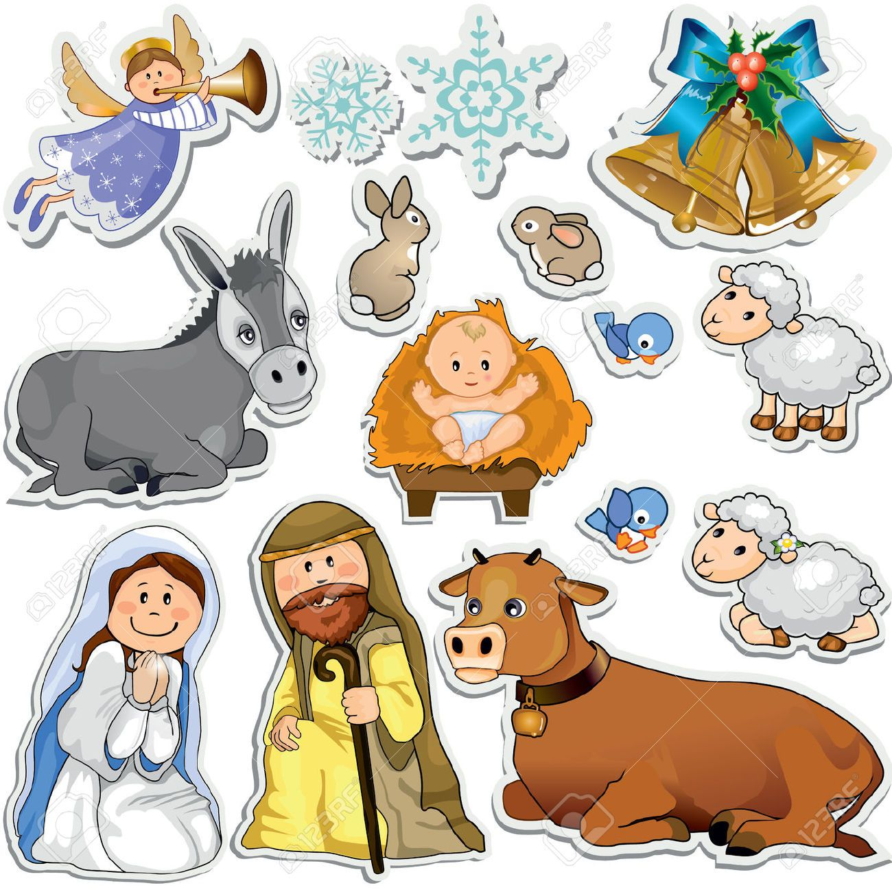 medium resolution of jogo do natal adesivos que representam os personagens da sagrada fam lia gradient m scara eps10 royalty free cliparts vetores e ilustra es stock