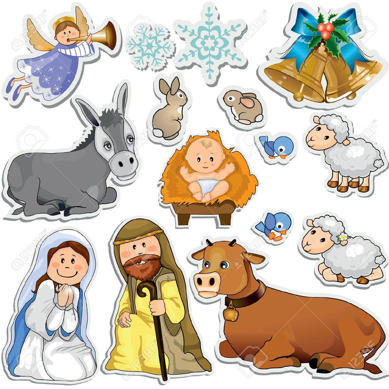 jogo do natal adesivos que representam os personagens da sagrada fam lia gradient m scara eps10 royalty free cliparts vetores e ilustra es stock  [ 1300 x 1300 Pixel ]