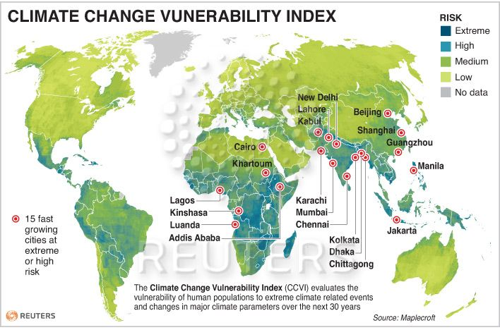 climate change vulnerability index | Weather and climate, Climate change,  Middle school geography