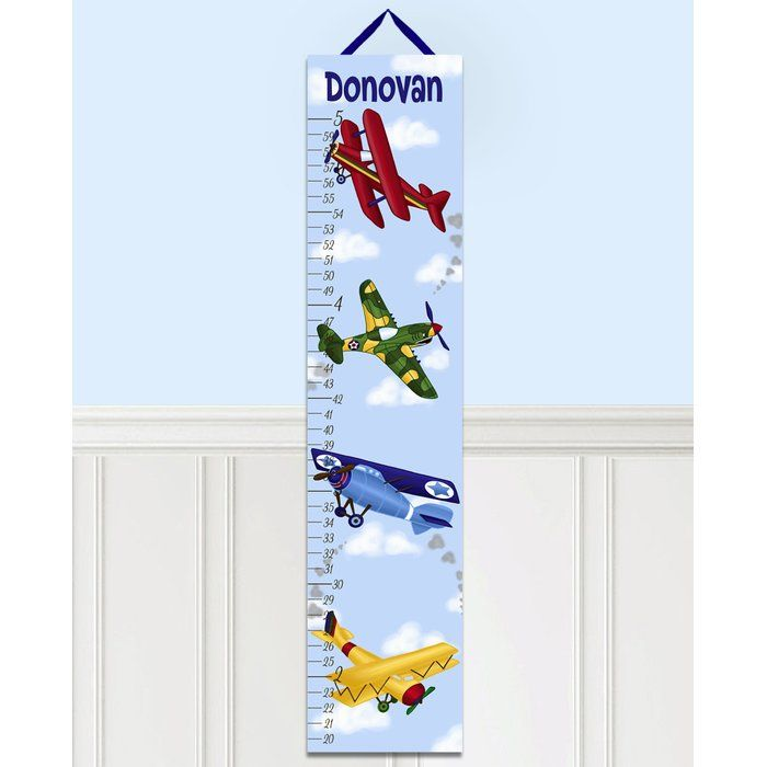 Airplanes Personalized Growth Chart Growth Chart Baby Nursery Wall Art Personalized Growth Chart