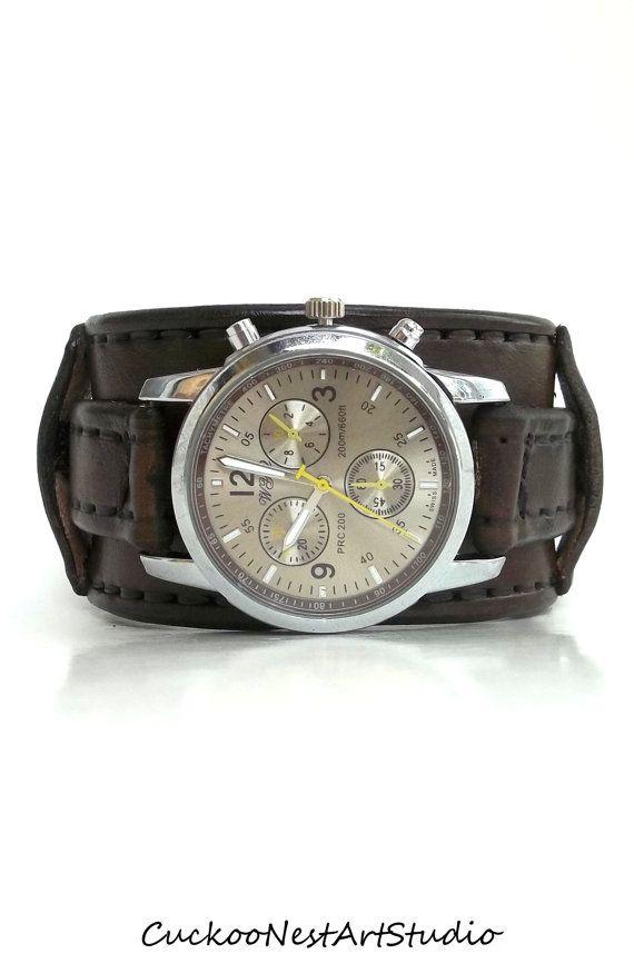 Men S Leather Wrist Watch Steampunk