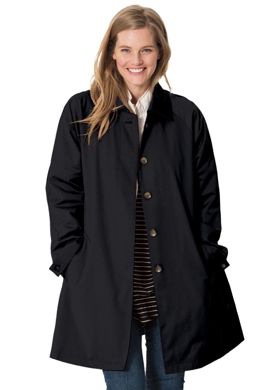 ef1277ef78c Water-resistant A-line raincoat - Women s Plus Size Clothing