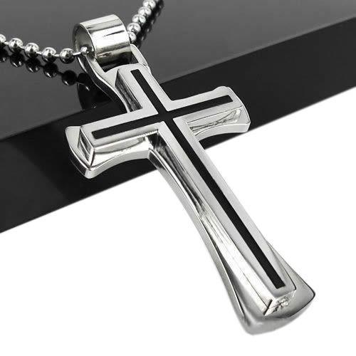 Men women black silver stainless steel cross pendant products men women black silver stainless steel cross pendant aloadofball Images