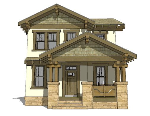 Arts And Crafts House Plan 116 1087 3 Bedrm 2080 Sq Ft Home Theplancollection Craftsman House Plans Craftsman Bungalows Narrow Lot House Plans