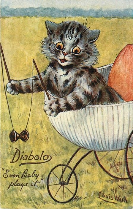 EVEN BABY PLAYS IT (1907) Louis Wain