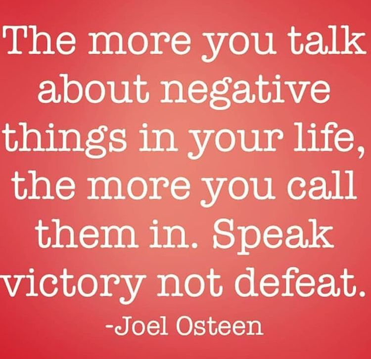 No Time For Negativity Only Positive