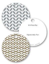 Perfect gift tags for handknits - there are crochet ones too...