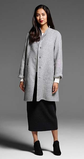 8b6659486e5659 EILEEN FISHER New Arrivals: High Collar Coat, Cashmere Box-Top, Merino  Pencil Skirt + Petal Bootie