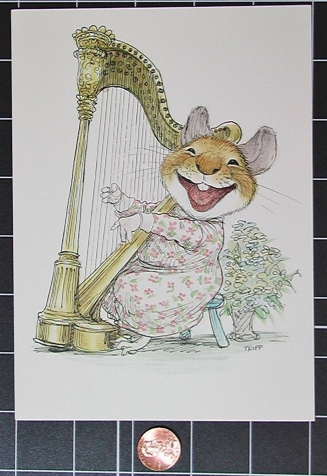 Mouse Birthday Harp Music Wallace Tripp Current Pawprints