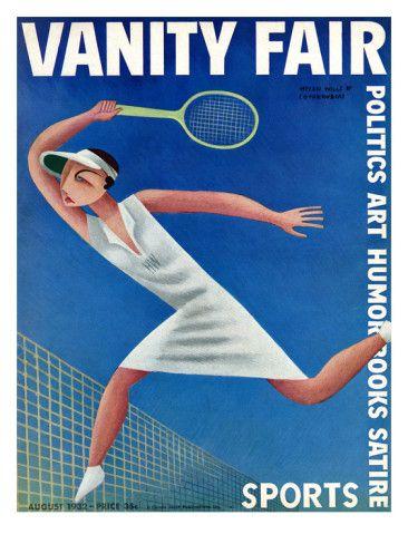 Vanity Fair Cover Featuring Helen Wills Playing By Miguel Covarrubias In 2020 Vanity Fair Covers Vanity Fair Magazine Tennis Posters