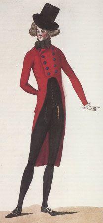 Journal de la Mode et du Gout, April 1790. Red and black! Good look!
