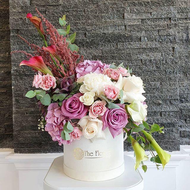 Floral Box Arrangement   #roses #engagement #wedding #floral #love #natural #design #art  Floral Box...
