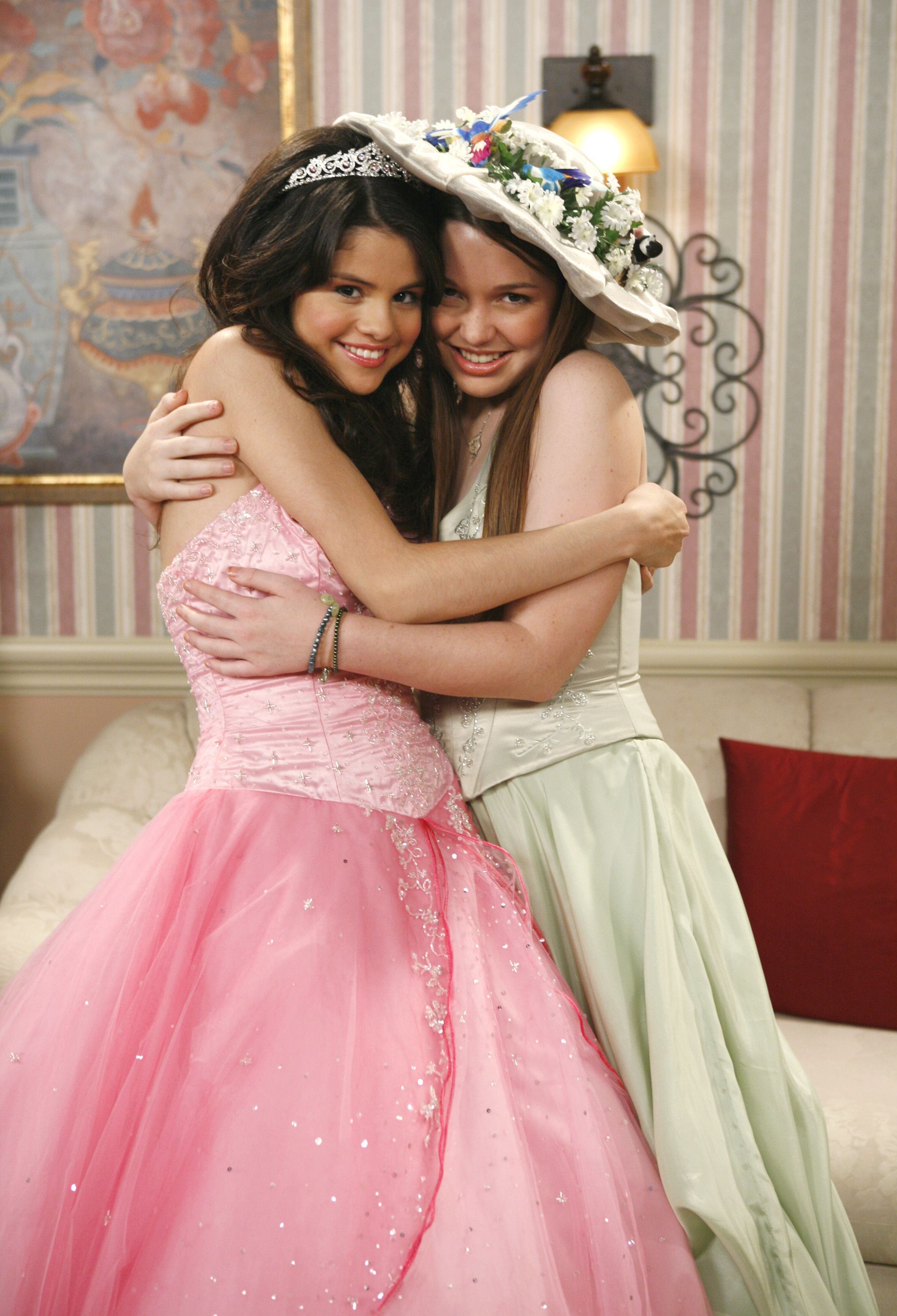 Selena Gomez as Alex Russo in Wizards Of Waverly Place. (Selena Gomez on the set of a Wizards Of Waverly Place episode.)