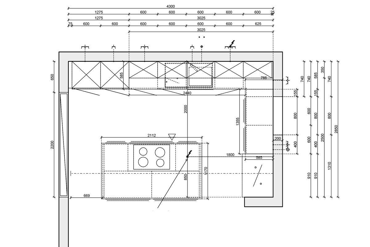 Bildergebnis für u küche mit insel grundriss  Küche zeichnen