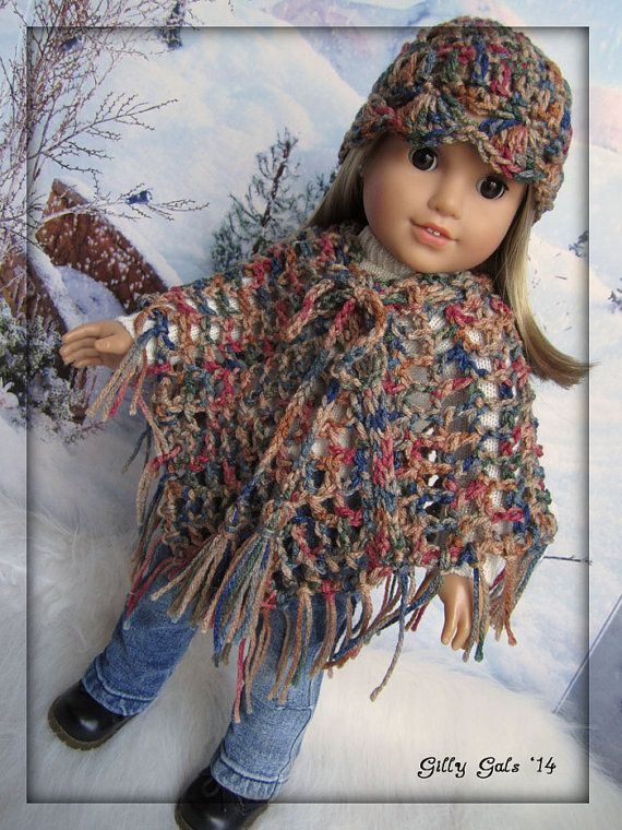 On Etsy!! Berrie Bread Poncho and Hat set American Girl