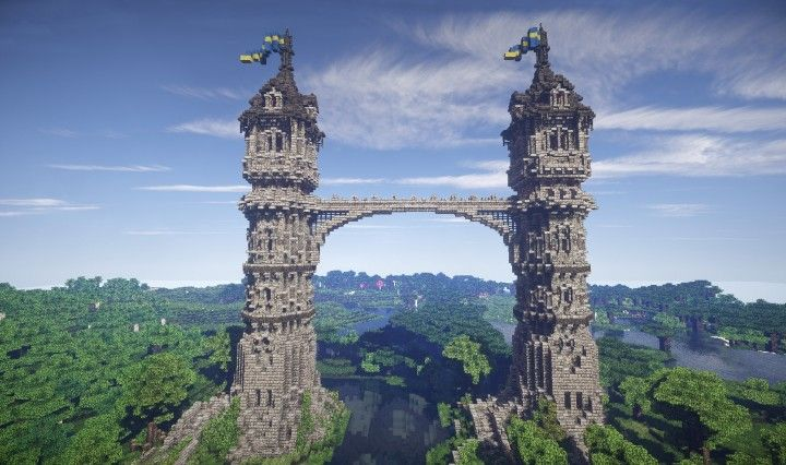 The Twins Medieval Towers Minecraft Project Minecraft