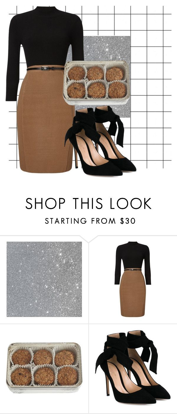 """"""":)"""" by torey-stultz ❤ liked on Polyvore featuring Phase Eight, FREDS at Barneys New York and Gianvito Rossi"""