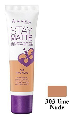 Rimmel London Stay Matte Liquid Mousse Foundation 30ml 303 True Nude *** You can
