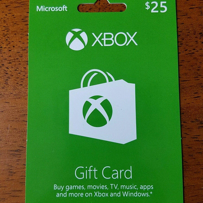 Xbox 25 gift card