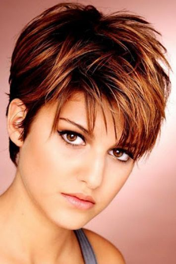 Short-hairstyles-for-fine-thin-hair-round-face-with-brown-hair ...