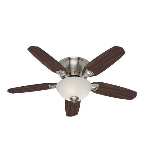 Hunter 44-in Louden Brushed Nickel Ceiling Fan - would be really