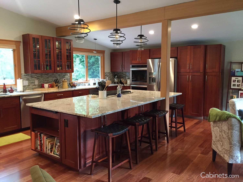 Best Shaker Cherry Cranberry Cherry Cabinets Kitchen Online 400 x 300