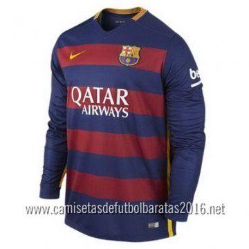 d549b4517f Camiseta de fútbol baratas manga larga Barcelona 2016 1ª equipación €21.99